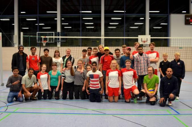 Das Training machte Spaß, wie das Gruppenfoto zeigt!